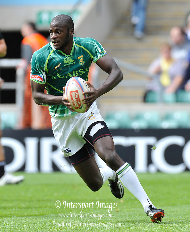Twickenham. Great Britain,  South Africa vs New Zealand,  South Africian No. 8 Jamba UIENGO, during the 2012 Marriott London Sevens Rugby played at the RFU Stadium, England on Sunday  13/05/2012  [Mandatory Credit. Peter Spurrier/Intersport Images]