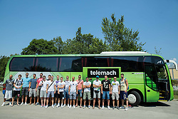 Group photo during meeting of Slovenian National Nasketball Team at the beginning of Training camp for Eurobasket 2015, on July 18, 2015 in Ljubljana, Slovenia. Photo by Vid Ponikvar / Sportida
