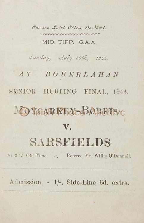 Munster Senior Hurling Championship Final, 16.07.1944, 07.16.1944, 16th July 1944, .07161944MSHCF..Cork v Limerick,...