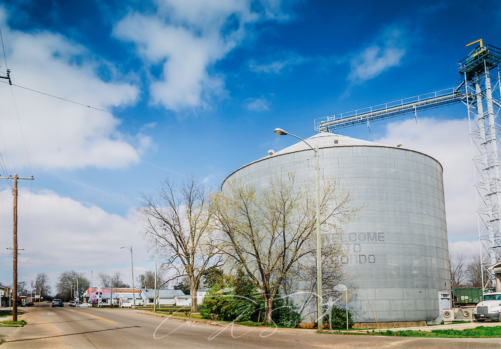 A semi truck pulls into the Peco Foods feed mill in Gordo, Alabama, March 18, 2014. Gordo, located in Pickens County, had a population of 1,677 at the 2000 Census. Peco Foods began with the Gordo feed mill and hatchery in 1937. Peco is the 13th largest poultry company in the United States. (Photo by Carmen K. Sisson/Cloudybright)