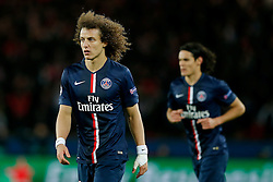 David Luiz of Paris Saint-Germain looks frustrated - Photo mandatory by-line: Rogan Thomson/JMP - 07966 386802 - 17/02/2015 - SPORT - FOOTBALL - Paris, France - Parc des Princes - Paris Saint-Germain v Chelsea - UEFA Champions League, Last 16, First Leg.