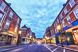 Market Street in Portsmouth, New Hampshire. HDR