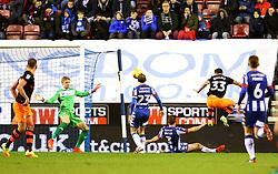 Ross Wallace of Sheffield Wednesday scores his sides first goal  - Mandatory by-line: Matt McNulty/JMP - 03/02/2017 - FOOTBALL - DW Stadium - Wigan, England - Wigan Athletic v Sheffield Wednesday - Sky Bet Championship
