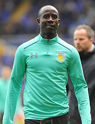 Albert Adomah of Aston Villa warms up before kick-off- Mandatory by-line: Nizaam Jones/JMP - 29/10/2017 - FOOTBALL - St Andrew's Stadium - Birmingham, England - Birmingham City v Aston Villa - Sky Bet Championship