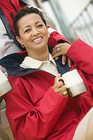 Woman with Coffee Mug on Boat