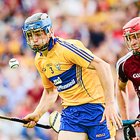 28 July 2013; David McInerney, Clare, in action against Jonathin Gavin, Galway. GAA Hurling All-Ireland Senior Championship, Quarter-Final, Galway v Clare, Semple Stadium, Thurles, Co. Tipperary. Picture credit: Ray McManus / SPORTSFILE