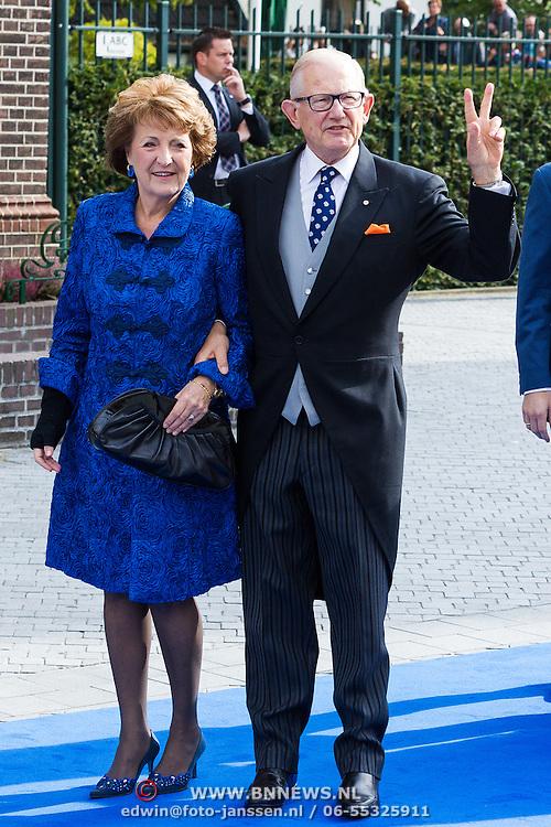 NLD/Apeldoorn/20130105 - Huwelijk prins Jaime en prinses Viktoria Cservenyak, prinses Margriet en partner Mr. Pieter van Vollenhoven