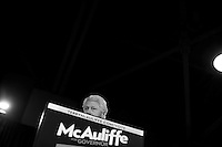HAMPTON, VA - OCTOBER 27:  Former President Bill Clinton speak during an campaign event with Virginia gubernatorial candidate Terry McAuliffe  in Hampton, Virginia on Sunday October 27, 2013. (Melina Mara/The Washington Post)