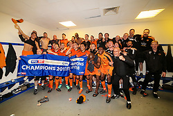 Free to use courtesy of SkyBet - Wolverhampton Wanderers players and staff celebrate after becoming Champions of the SkyBet Championship after a 4-0 win against Bolton Wanderers - Mandatory by-line: Matt McNulty/JMP - 21/04/2018 - FOOTBALL - Macron Stadium - Bolton, England - Bolton Wanderers v Wolverhampton Wanderers - Sky Bet Championship
