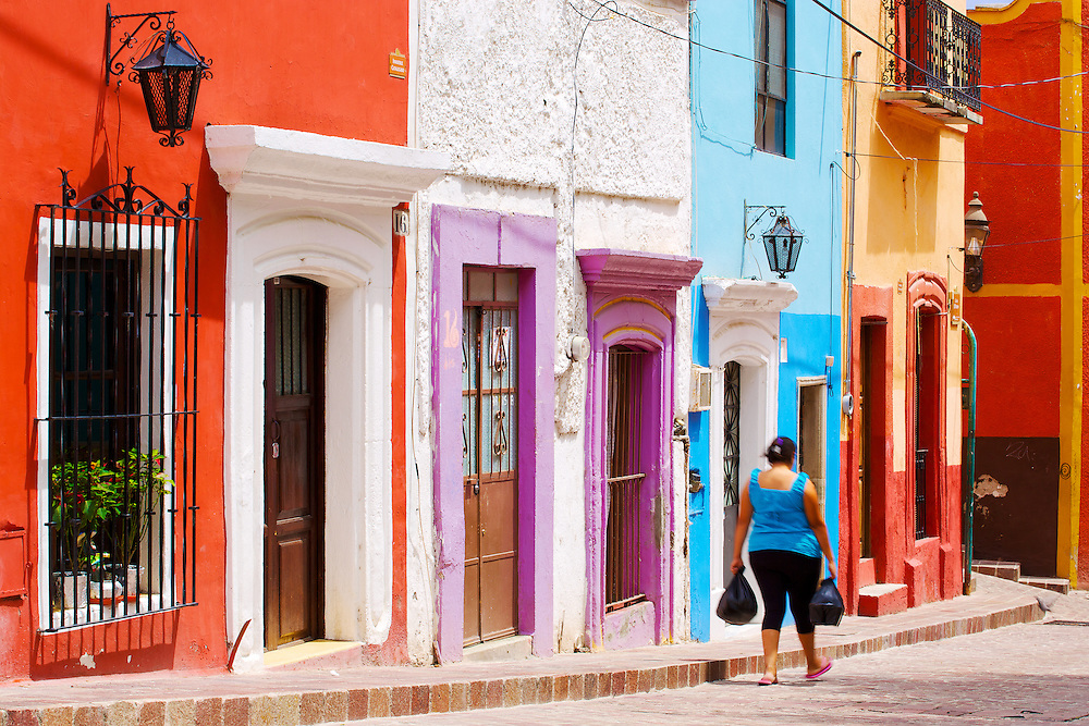 The colourful streets of Guanajuato, México