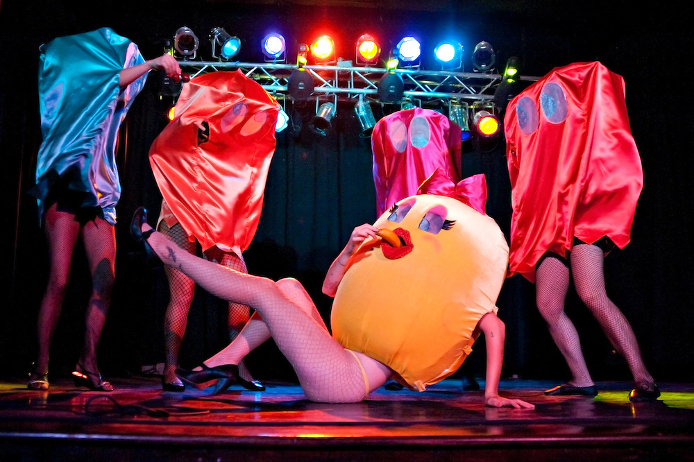 """Crtical Hit Burlesque's production of """"Geeklesque: Powers Up"""" at the Star Theater on September 24, 2011.  (photo by Casey Campbell)"""