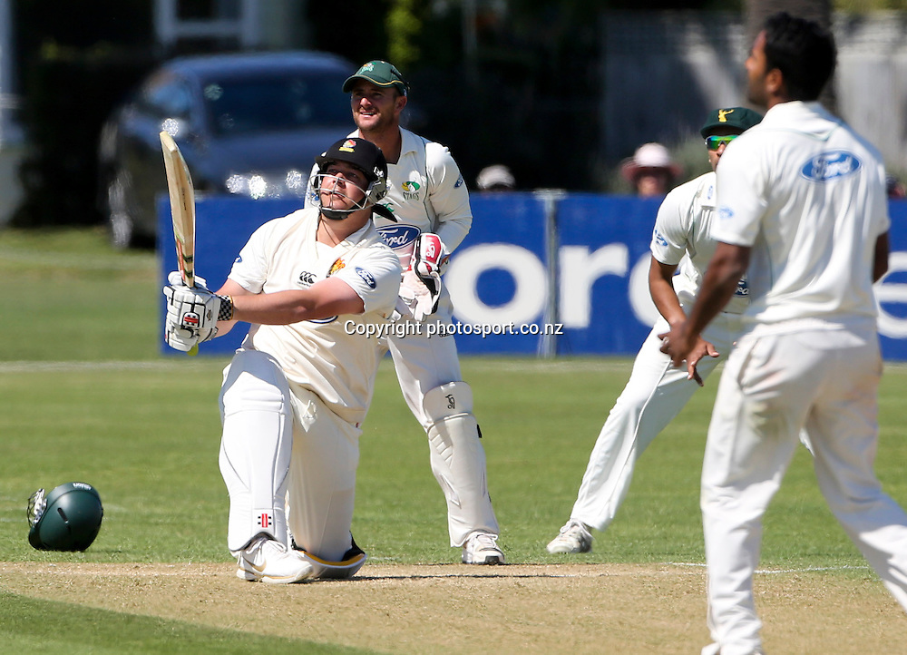 Wellington's Jesse Ryder in the Plunket Shield cricket match between the Central Districts Stags and the Wellington Firebirds at Nelson Park, Napier,  New Zealand. Tuesday, 30 October, 2012. Photo: John Cowpland / photosport.co.nz