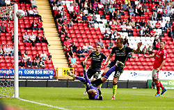 Chris Lines of Bristol Rovers misses a chance to score a goal - Mandatory by-line: Robbie Stephenson/JMP - 05/08/2017 - FOOTBALL - The Valley - Charlton, London, England - Charlton Athletic v Bristol Rovers - Sky Bet League One