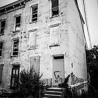 Glencoe-Auburn Place in Cincinnati Ohio. The Glencoe-Auburn Hotel and Glencoe-Auburn Place Row Houses were built in the late 1800's and is listed on the U.S. National Register of Historic Places. The complex is currently abandoned and in extremely poor condition.