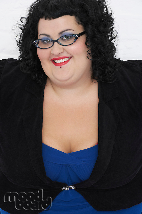Overweight Woman Smiling portrait