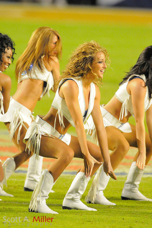 Miami, FL, USA; Indianapolis Colts cheerleaders perform during the New Orleans Saints 31-17 win over the Colts in Super Bowl XLIV at Sun Life Stadium on Feb 7, 2010...©2010 Scott A. Miller