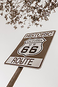 Historic Route 66 Street Sign in Glendora