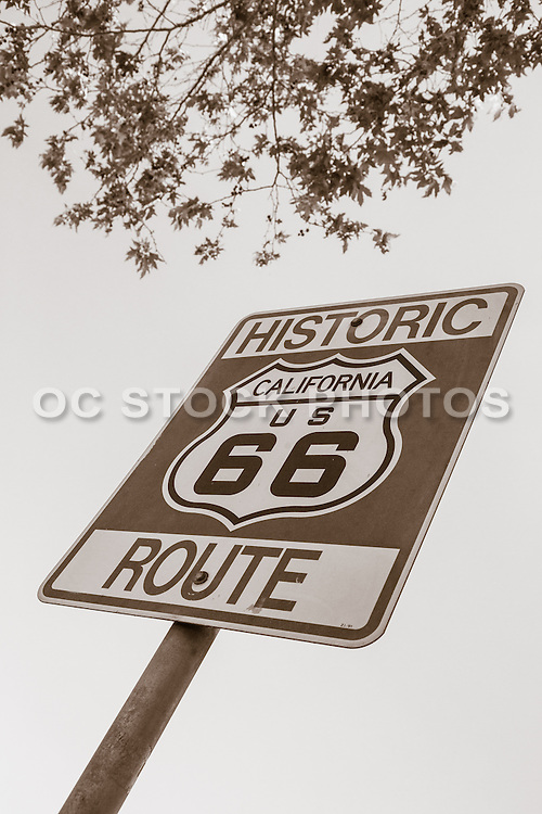 Historic Route 66 Street Sign in Glendora