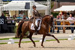 Paulius Larissa, BEL, First-Step Valentin<br /> World Championship Young Dressage Horses - Ermelo 2019<br /> © Hippo Foto - Dirk Caremans<br /> Paulius Larissa, BEL, First-Step Valentin