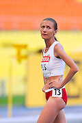 Renata Plis from Poland competes in women's 1500 meters qualification during the 14th IAAF World Athletics Championships at the Luzhniki stadium in Moscow on August 11, 2013.<br /> <br /> Russian Federation, Moscow, August 11, 2013<br /> <br /> Picture also available in RAW (NEF) or TIFF format on special request.<br /> <br /> For editorial use only. Any commercial or promotional use requires permission.<br /> <br /> Mandatory credit:<br /> Photo by &copy; Adam Nurkiewicz / Mediasport