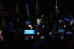 Democratic presidential candidate HILLARY CLINTON and running mate Sen. Tim Kaine campaign together at a rally in Philadelphia, PA