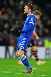 Jamie Vardy of Leicester City shows his frustration- Mandatory by-line: Nizaam Jones/JMP- 27/11/2018- FOOTBALL - King Power Stadium- Leicester, England - Leicester City v Southampton - Carabao Cup