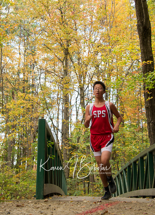St Paul's School cross country meet with Milton.  ©2014 Karen Bobotas Photographer