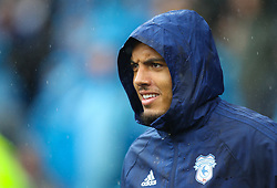 September 22, 2018 - Cardiff City, England, United Kingdom - Kenneth Zohore of Cardiff City during the Premier League match between Cardiff City and Manchester City at Cardiff City Stadium,  Cardiff, England on 22 Sept 2018. (Credit Image: © Action Foto Sport/NurPhoto/ZUMA Press)