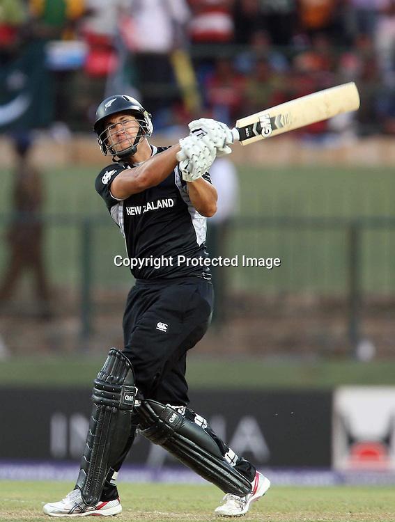 Ross Taylor during his century innings at the ICC Cricket World Cup. New Zealand vs Paksitan.Pallekele Cricket Stadium, Kandy, Sri Lanka.Tuesday 8 March 2011. Photo: photosport.co.nz