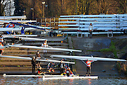 Chiswick, GREAT BRITAIN,   General views of Scullers boating for the 2012 Scullers Head of the River Race from Tideway Scullers School Boat house..  'Championship Course', Mortlake to Chiswick [Reverse], on the River Thames, Saturday  08/12/2012  [Mandatory Credit, Peter Spurrier / Intersport-images