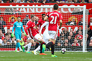 Wayne Rooney Forward of Manchester United during the Premier League match between Manchester United and Swansea City at Old Trafford, Manchester, England on 30 April 2017. Photo by Phil Duncan.