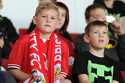 A Bristol City fan looks on - Mandatory byline: Dougie Allward/JMP - 07966 386802 - 03/10/2015 - FOOTBALL - Ashton Gate - Bristol, England - Bristol City v MK Dons - Sky Bet Championship