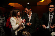 HENRIETTA BEVAN AND DOMINIC WEST,. After-drinks JOSEPHINE HART Poetry Hour. British Library. Euston Rd. London. 22 March 2006. ONE TIME USE ONLY - DO NOT ARCHIVE  © Copyright Photograph by Dafydd Jones 66 Stockwell Park Rd. London SW9 0DA Tel 020 7733 0108 www.dafjones.com