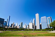 Chicago IL skyline from Grant park