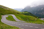 winding mountain road Austrian Alps