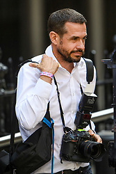 © Licensed to London News Pictures. 23/07/2019. London, UK. Public relations Photographer ANDREW PARSONS, newly appointed special advisor to British Prime Minister Boris Johnson is seen leaving Conservative Party Headquarters (CCHQ) in London . Photo credit: Ben Cawthra/LNP