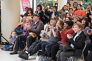 Town of Wallkill, New York - People applaud for high School students perfomring perform in the 2017 All-County Musical Showcase and Visual Arts Display at the Galleria at Crystal Run on Feb. 25, 2017.