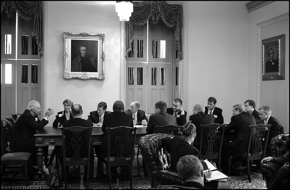 Meeting of airlines CEOs and members of Congress.  9/13/01..©PF BENTLEY/PFPIX.com