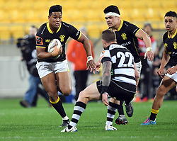 Wellington's Julian Savea runs at Hawkes Bay's Chris Eaton in the Mitre 10 Cup rugby match at Westpac Stadium, Wellington, New Zealand, Wednesday, September 06, 2017. Credit:SNPA / Ross Setford  **NO ARCHIVING**