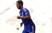 Eden Hazard in action during the FA Community Shield match between Chelsea and Arsenal at Wembley Stadium, London, England on 2 August 2015. Photo by Michael Hulf.