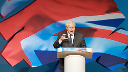 Boris Johnson .Mayor of London keynote speech during the Conservative Party Conference, ICC, Birmingham, Great Britain, October 9, 2012. Photo by Elliott Franks / i-Images.