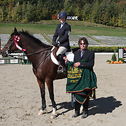 Missy Miller (USA) and Dene Court at the 2007 Bromont Fall Horse Trials held September 20 - 23 at the 1976 Olympic site in Bromont, Quebec, Canada.
