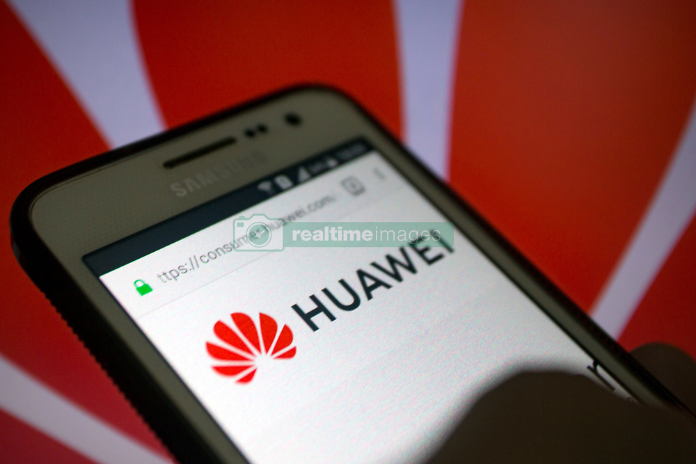 May 1, 2019 - Huawei logo on its website, seen on a smartphone display. (Credit Image: © Andre M. Chang/ZUMA Wire)