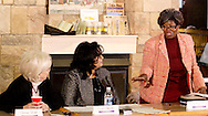 (from left) Jeanne Porter of Women in Business Networking; Gail Johnson of Cognitians, LLC and Rosalyn Smith of Soul Purpose during the 'Hot Topics' Koffee Talk at the Dorothy Lane Market in Springboro, Friday, March 4, 2011.