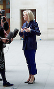 Liz Truss leaves the Andrew Marr Show departures<br /> BBC, Broadcasting House, London, Great Britain <br /> 19th February 2017 <br /> <br /> <br /> Elizabeth Truss<br /> Secretary of State for Justice and The Lord Chancellor <br /> <br /> Photograph by Elliott Franks <br /> Image licensed to Elliott Franks Photography Services