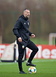 MANCHESTER, ENGLAND - Monday, March 18, 2019: Wales' manager Ryan Giggs during a training session at Manchester United's Trafford Training Centre ahead of an international friendly match against Trinidad and Tobago. (Pic by David Rawcliffe/Propaganda)