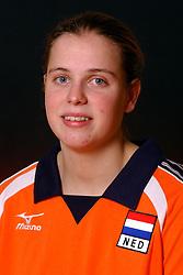29-10-2001 VOLLEYBAL: JONG ORANJE DAMES: ZEIST<br /> Portretfoto Dames Jong Oranje / Elke Wijnhoven<br /> <br /> &copy;2001-WWW.FOTOHOOGENDOORN.NL
