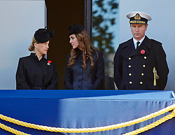 The Countess of Wessex, The Duchess of Cambridge and Vice Admiral Sir Timothy Laurence. during the annual Remembrance Sunday Service at the Cenotaph, Whitehall, London, United Kingdom. Sunday, 10th November 2013. Picture by i-Images