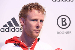 01.10.2013, Messe, Duesseldorf, GER, Einkleidung Olympiamannschaft Sochi 2014, im Bild Beach Volleyball Olympiasieger Julius Brinkmann, // during the Presentation of the Olympic Team Germany for Sochi 2014 at the Messe, Duesseldorf, Germany on 2013/10/01. EXPA Pictures © 2013, PhotoCredit: EXPA/ Eibner/ Joerg Schueler<br /> <br /> ***** ATTENTION - OUT OF GER *****