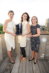 Left to right, CANDIDA GERTLER, YANA PEEL and RHONA LUTHI Marketing Director at Montblanc (UK) Ltd at the Montblanc de la Culture Arts Patonage Award 2010 held at Floors 7-10, Multi-Storey Car Park, 95A Rye Lane, London SE15 on 30th June 2010.  The 2010 UK winners were Yana Peel & Candida Gertler.